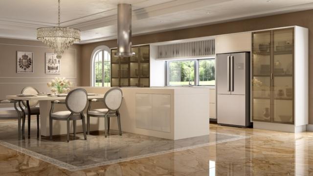 Móveis planejados para Cozinha Laccato- coleção Fifty collection