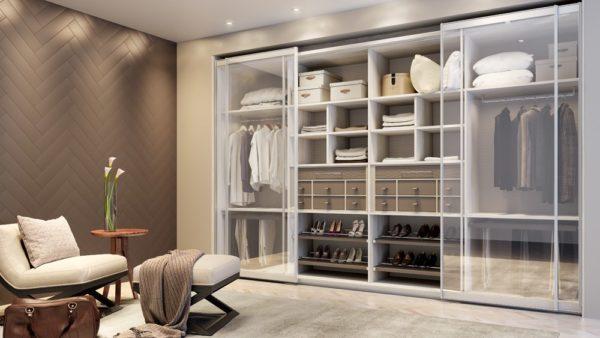 Quarto do casal: Closet móveis planejados de alto padrão em Santos