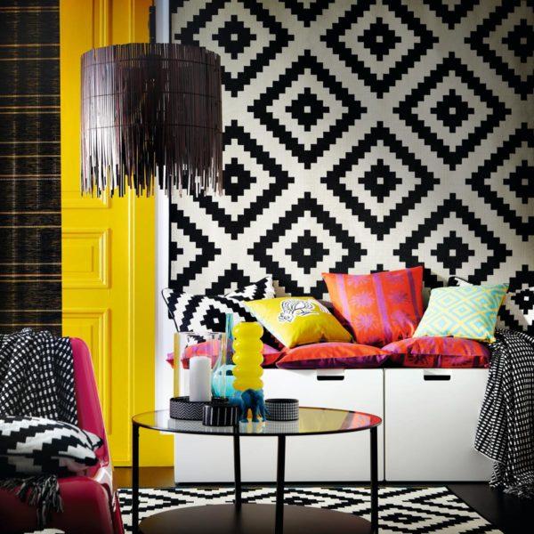 Alternar os tipos de estampas na decoração